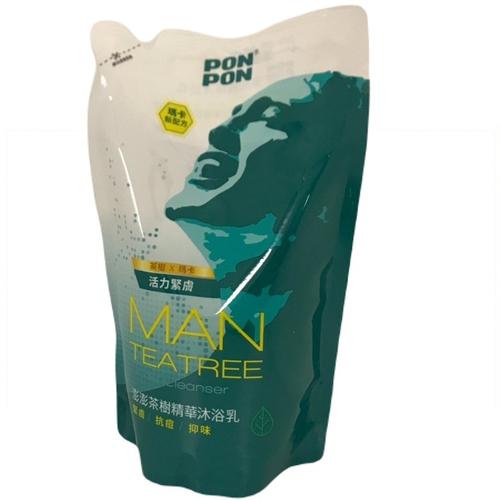 澎澎 MAN 淨化沐浴乳補充包-茶樹精油(700g/包)