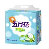 《五月花》新柔韌抽取式衛生紙110抽*12包/袋
