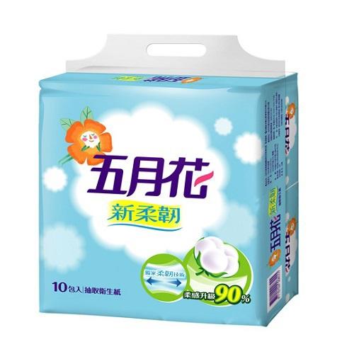 五月花 新柔韌抽取式衛生紙(110抽*12包/袋)