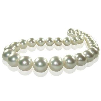 小樂珠寶 3A正圓南洋深海貝珍珠項鍊(經典白色)