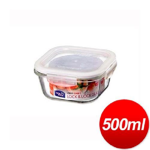 《樂扣樂扣》玻璃保鮮盒方型(500ml)