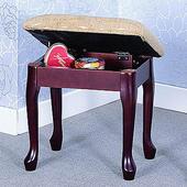 《英式古典》維多利雅掀蓋化妝椅(咖啡色)