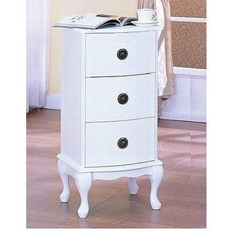 英式古典 三抽櫃(白色)