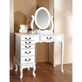 英式古典化妝珠寶桌-白色