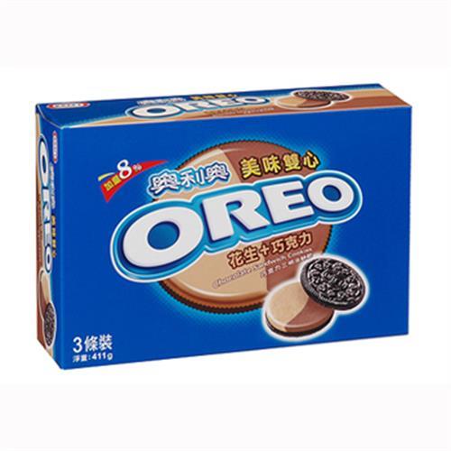 奧利奧 美味雙心巧克力三明治餅乾(411g/盒)