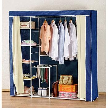 新垣日式防塵衣櫥架-寬180CM(藍色)