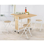 便利折疊桌椅組(1桌4椅)
