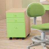 《天才學童》粉藍色系列活動三抽櫃(綠色)