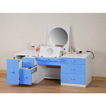 《朵拉》二代和室兩用化妝桌(粉藍)