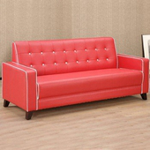 《Homelike》時尚經典沙發-三人座(紅色)