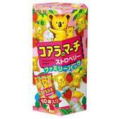 《LOTTE》樂天小熊餅乾家庭號-草莓(195g/盒)