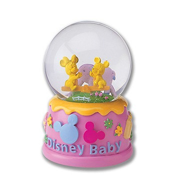 Disney迪士尼金飾 ?快樂翹翹板?水球造型音樂盒