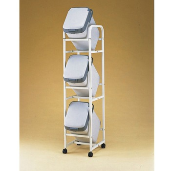 《愛樂美》資源回收分類桶架-灰色