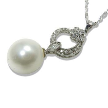 小樂珠寶 3A南洋深海貝珍珠墬子(白色尊榮款)