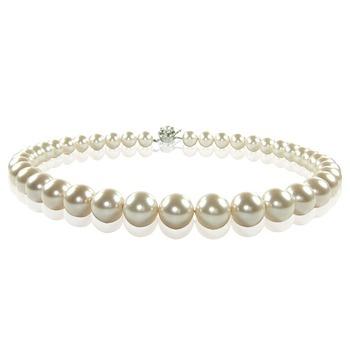 小樂珠寶 3A南洋深海貝珍珠項鍊(白色百搭款)