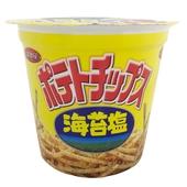 《湖池屋》卡辣姆久苔鹽洋芋條(64g/杯)