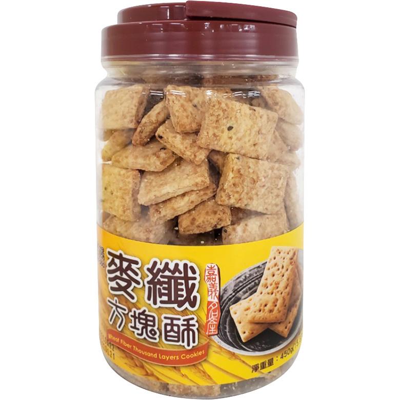 《老楊》麥纖方塊酥(450g/罐)