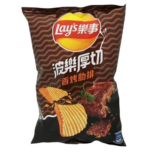 《Lay's樂事》波樂香烤肋排洋芋片(97g/包)