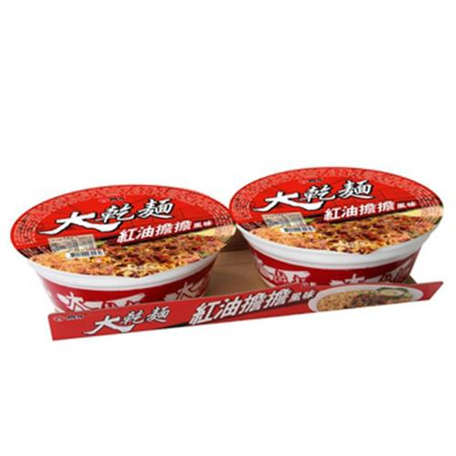 維力 大乾麵-紅油擔擔(110gx2碗/組)