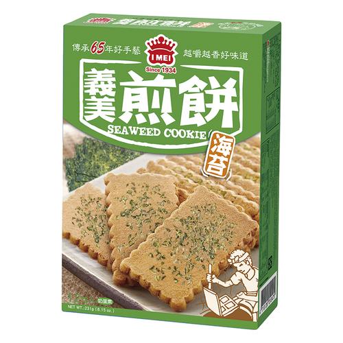 義美 煎餅量販盒-海苔(231g/盒)