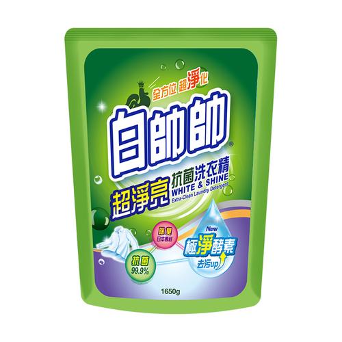 《白帥帥》超淨亮抗菌洗衣精補充包(1650g/包)