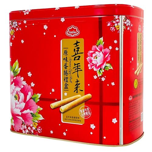 喜年來 原味蛋捲精緻禮盒-附提袋(512g/盒)