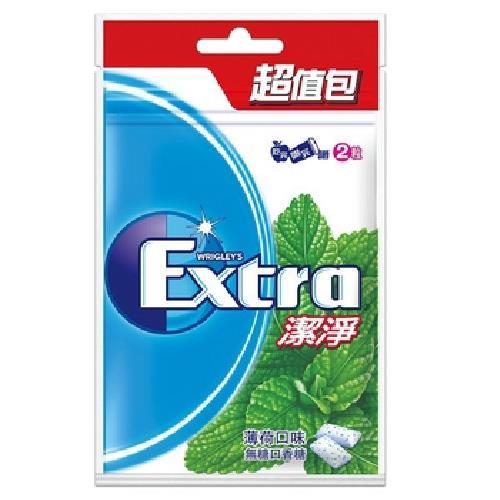 《Extra》潔淨無糖口香糖-薄荷口味(62公克/袋)
