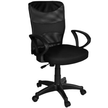 ★結帳現折★凱堡 ?健康鋼網背辦公電腦椅(黑色)
