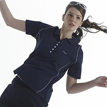 SASAKI 吸濕排汗網球短衫-丈青 共4色(M)