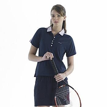 SASAKI 吸濕排汗網球短衫-丈青(共四色)(L)