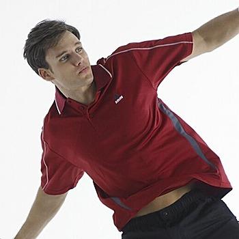 SASAKI 吸濕排汗專業網球短衫-暗紅(共4色)(L)