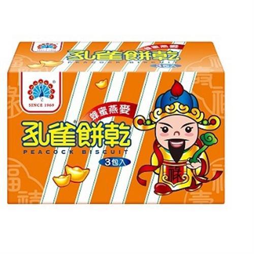 乖乖 孔雀餅乾蜂蜜燕麥(405g/盒)