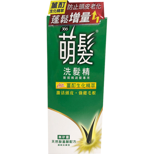萌髮566 洗髮精-清爽抗屑型(400g/瓶)