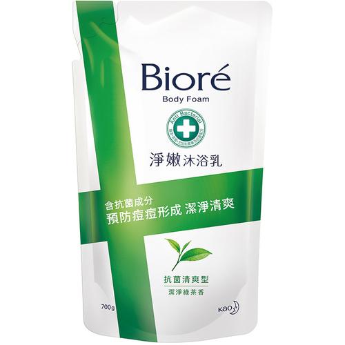 Biore 蜜妮淨嫩沐浴乳 抗菌清爽型(700ml/包 靜岡綠茶香)