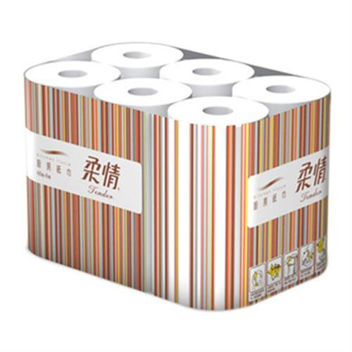 柔情 廚房紙巾(60組x6捲/袋)