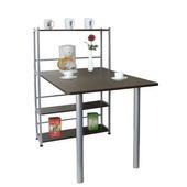 《環球》80公分(深)x120公分(寬)置物架型-電腦餐桌(深胡桃木色)