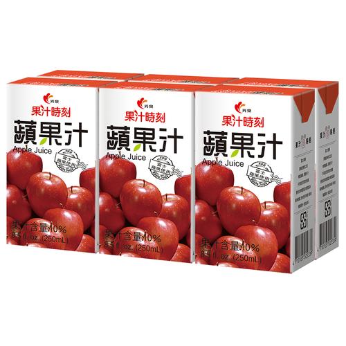 光泉 果汁時刻-蘋果汁(250ml*6包/組)