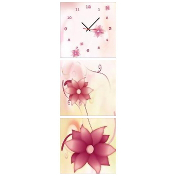 TIME ART 靜音機芯三聯式時鐘(50*50*3.5 )