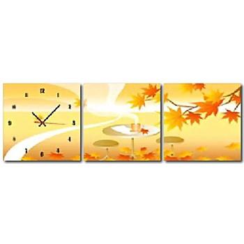 ★結帳現折★TIME ART 靜音機芯三聯式時鐘(30*30*2.5 三聯式)
