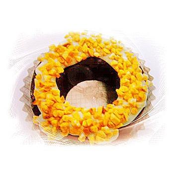 菖樺台灣日本冰 甜甜圈冰點 巧克力杏仁果(108g+-5/入*1入)