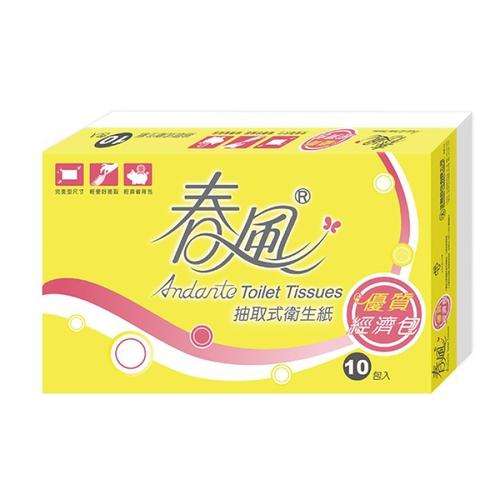 春風 經濟包抽取衛生紙(小包型)(100抽*10包/串)