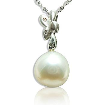 小樂珠寶 超大巨大13-13.5mm南洋珠鑽墬
