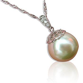 小樂珠寶 頂級天然南洋珠墬子(超大15mm濃郁金珠)