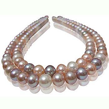 小樂珠寶 超稀有天然珍珠項鍊(少有跳色珠)