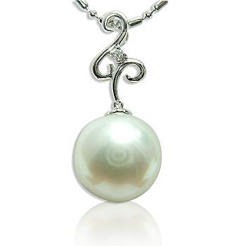 小樂珠寶 超大14.1mm天然南洋珠墬子(時尚點綴款)