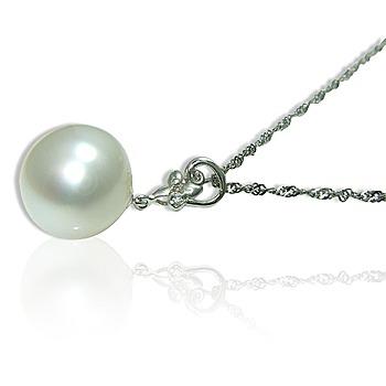 小樂珠寶 超大超大14mm天然南洋珠墬子(秀氣花朵款)
