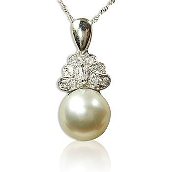 小樂珠寶 頂級天然南洋珠墬子(美鑽蝴蝶款)