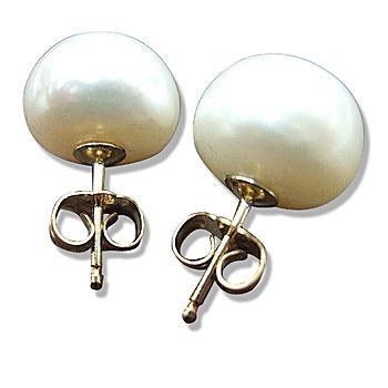 小樂珠寶 純14K金天然珍珠耳環(超大11-12mm)