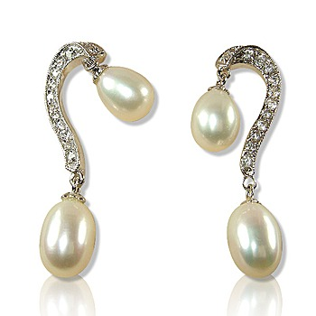 小樂珠寶 天然珍珠耳環(華麗亮眼款)
