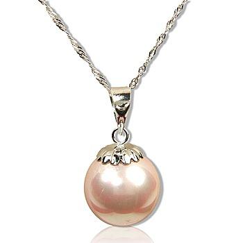小樂珠寶 14K金南洋深海貝珍珠墬子 粉色